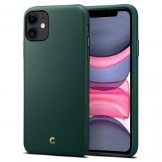 Ciel By CYRILL iPhone 11 Case Spigen Sub Brand Basic Leather Forest Green