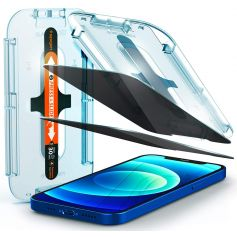 [2 Pack] iPhone 12 Pro / iPhone 12 Privacy Glas.tR EZ Fit