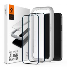 [2 Pack] iPhone 12 Pro / iPhone 12 AlignMaster Full Coverage Tempered Glass