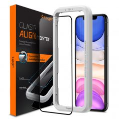 iPhone 11 / iPhone XR AlignMaster Full Coverage Tempered Glass