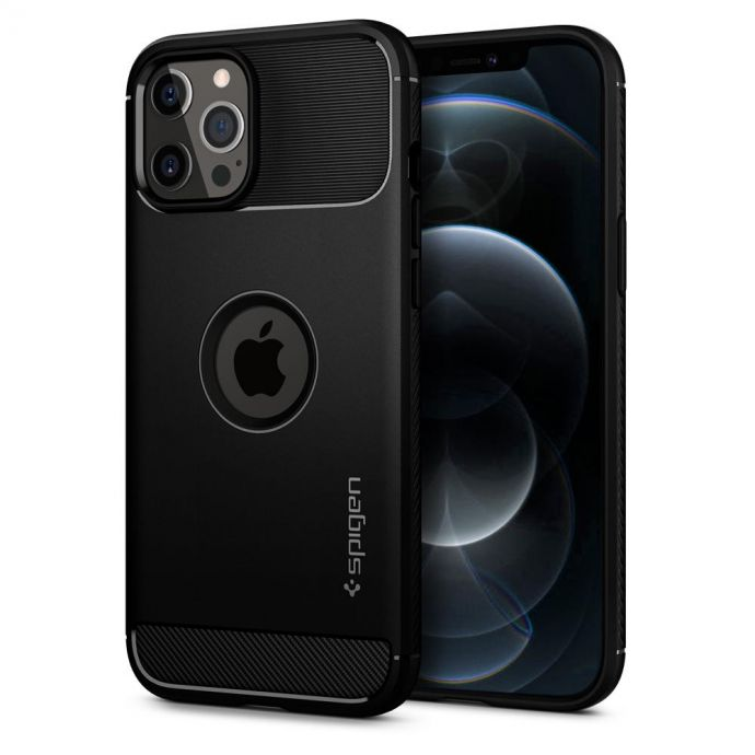 iPhone 12 Pro Max Case  Spigen Rugged Armor Black  Something You Want